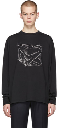 Second/Layer Black Inside Out Body T-Shirt