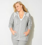 Avenue Lace Striped French Terry Active Jacket