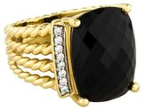 David Yurman 18K Onyx & Diamond Wheaton Ring