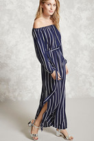 Forever 21 FOREVER 21+ Contemporary Striped Maxi Dress