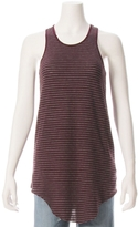 TEE LAB By FRANK & EILEEN Long High Neck Stripe Tank