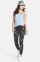 Paige 'Verdugo' Paint Splatter Ultra Skinny Jeans (Night Storm)