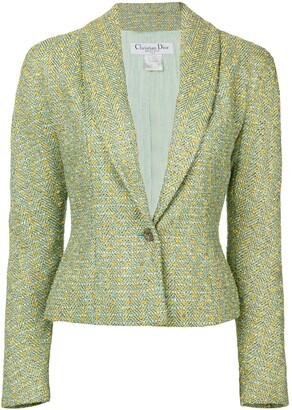 Christian Dior Pre-Owned lurex bouclé jacket