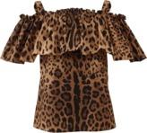 Dolce & Gabbana Off Shoulder Leopard Tank
