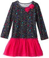 Jumping beans cheetah heart tulle dress - toddler