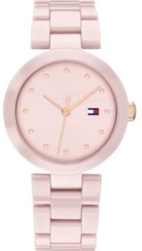 Tommy Hilfiger Women's Blush Ceramic Bracelet Watch 32mm, Created for Macy's
