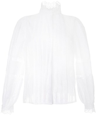 Dice Kayek Lace Pleated Shirt
