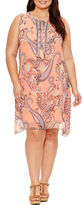 Studio 1 Sleeveless Paisley Sheath Dress-Plus