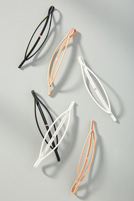 Anthropologie Lena Oval Hair Clip Set By in Assorted Size ALL