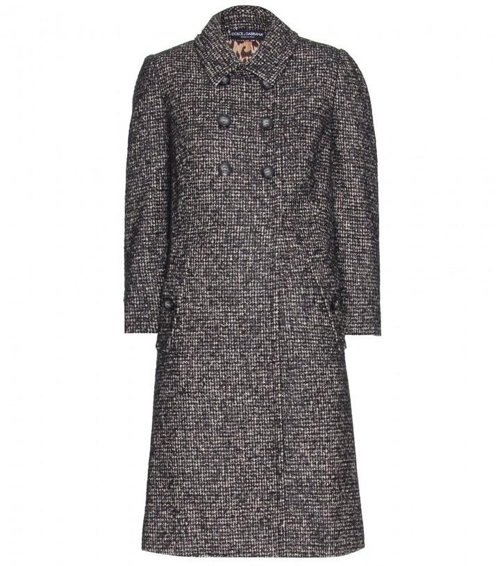 Dolce & Gabbana WOOL-BLEND BOUCLÉ COAT