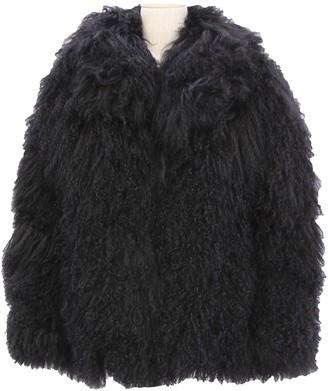 Laurence Dolige Black Fur Jacket for Women
