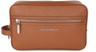 Crafted Society Edy Washbag - Camel Saffiano Leather
