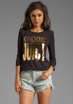 Juicy Couture Choose Juicy Tee in Black/Gold
