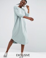 Monki Oversized Jersey Midi Dress
