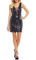 B. Darlin X-Front Sequin Sheath Dress