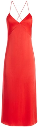 Alice + Olivia Loraine Seamed Slip Midi Dress