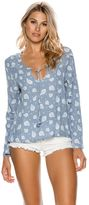Swell Flared Sleeve Tie Blouse