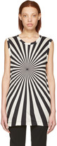 Gareth Pugh Black and Beige Printed T-shirt