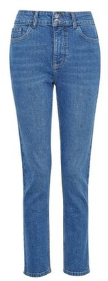 Dorothy Perkins Womens Blue Midwash Slim Fit Denim Jeans With Organic Cotton, Blue