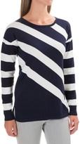 Foxcroft Tess Diagonal Stripe Shirt - Cotton Blend, Long Sleeve (For Women)