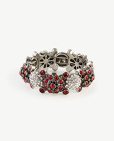 Ann Taylor Jeweled Pave Stretch Bracelet