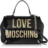 Love Moschino Patent Eco Leather Shoulder Bag w/Signature Logo