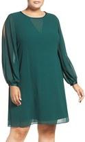 Vince Camuto Plus Size Women's Split Sleeve Float Dress