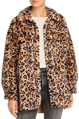 Vero Moda Faux-Fur Leopard-Print Coat