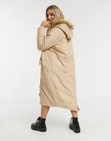 Thumbnail for your product : Brave Soul genevive maxi parka coat