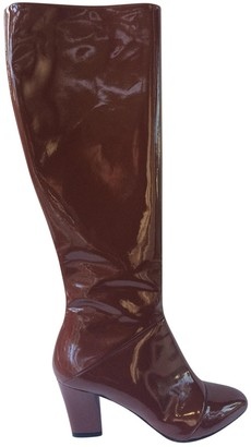 Marc Jacobs Brown Patent leather Boots