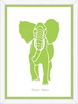 The Well Appointed House Lime Elephant Framed Child۪s Wall Art-Available in a Variety of Sizes