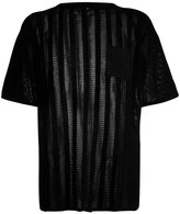 MHI sheer panel T-shirt - men - Cotton - L
