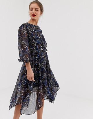 Vila hi low hem floral dress-Multi