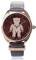 Vivienne Westwood Women's VV103BRGY Crazy Bear Analog Display Swiss Quartz Black Watch