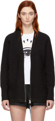 Kenzo Black and Blue Jacquard Sport Zip-Up Sweater