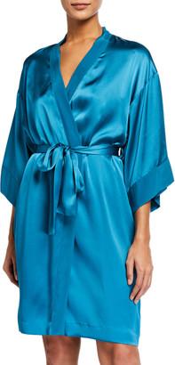 Vivis Gloriana Silk Short Robe