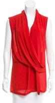 Helmut Lang Sleeve Silk Top