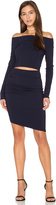 Bec & Bridge Trixie Off The Shoulder Long Sleeve Dress