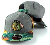 American Needle Men's Chicago Blackhawks Palm Snapback Cap O/S Grey