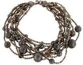 Stephen Dweck Smoky Quartz & Pearl Multistrand Necklace