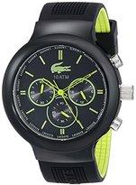 Lacoste Men's 2010650 Boneo Black & Lime Watch