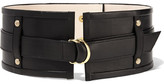 Balmain Embellished Leather Waist Belt - Black