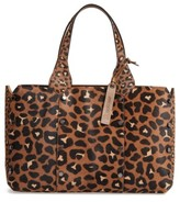 Jimmy Choo Lockett Genuine Calf Hair Shopper - Brown