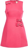 Kate Spade Make Magic Flared Embellished Ottoman Mini Dress