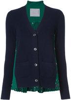 Sacai paisley rear insert cardigan - women - Polyester/Wool - 3