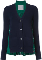 Sacai paisley rear insert cardigan - women - Polyester/Wool - 4