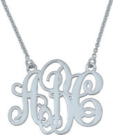 JCPenney FINE JEWELRY Personalized Swirl 20mm Monogram Necklace