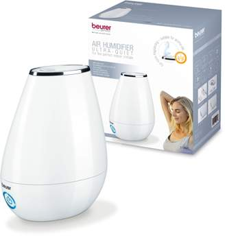Beurer Ultrasonic Aroma Air Humidifier and Essential Oil Diffuser, White, LB37
