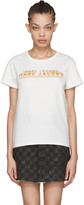 Marc Jacobs Ivory Classic Logo T-shirt