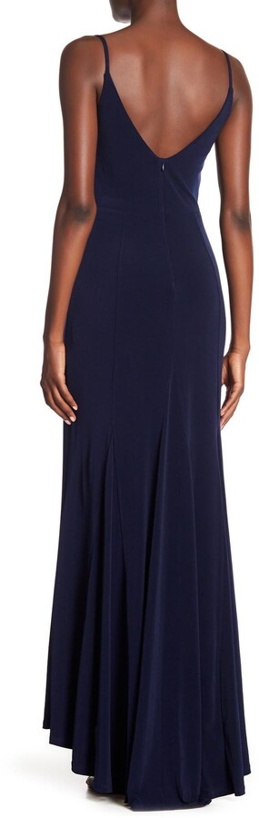 Thumbnail for your product : Jump Plunge V-Neck Jersey Gown